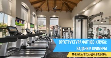 Оргструктура фитнес-клуба: задачи и примеры